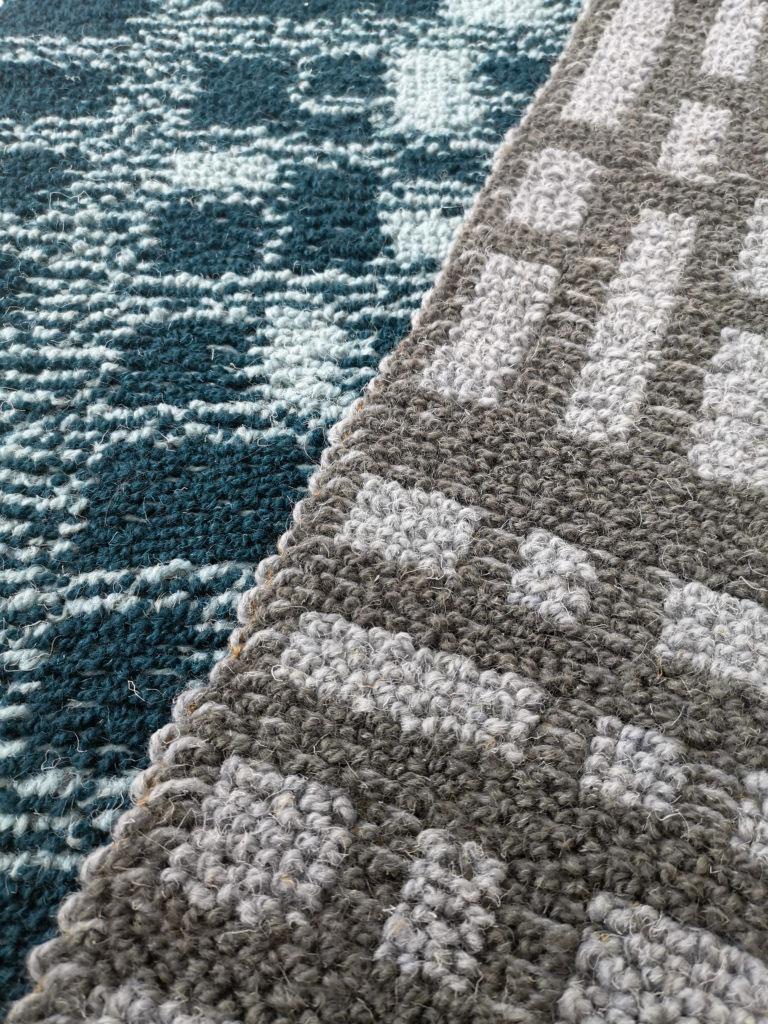 Strickteppich Textildesign für Interieur